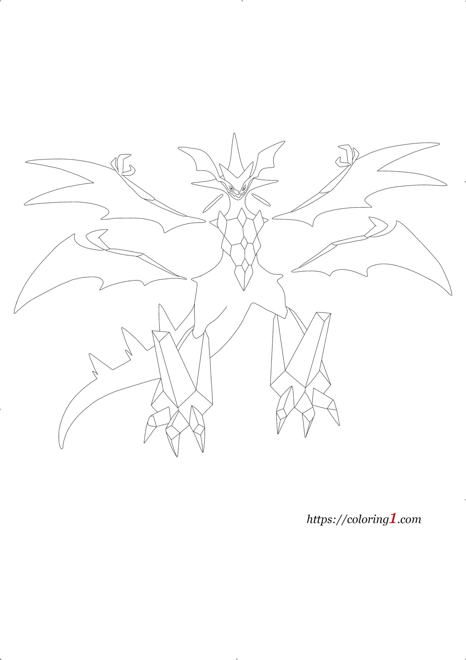 Pokemon Ultra Necrozma coloring page
