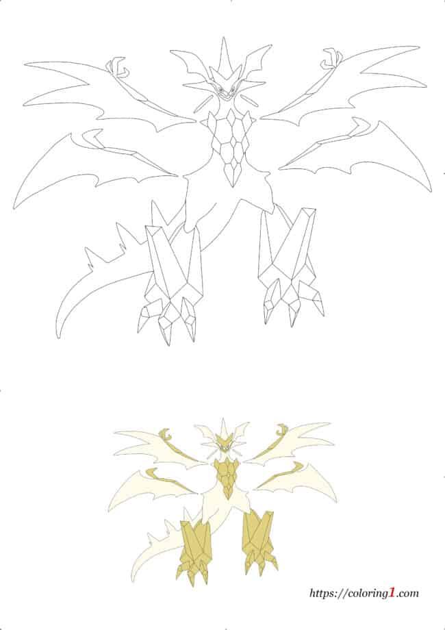 Coloriage Dessin Pokemon Ultra Necrozma à imprimer gratuit