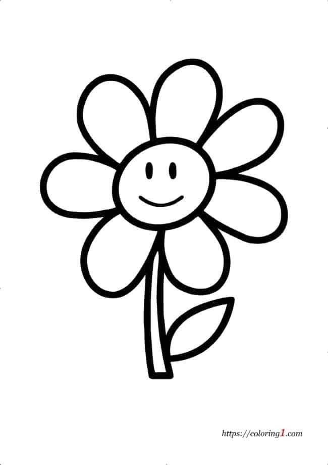 Coloriage Fleur Facile