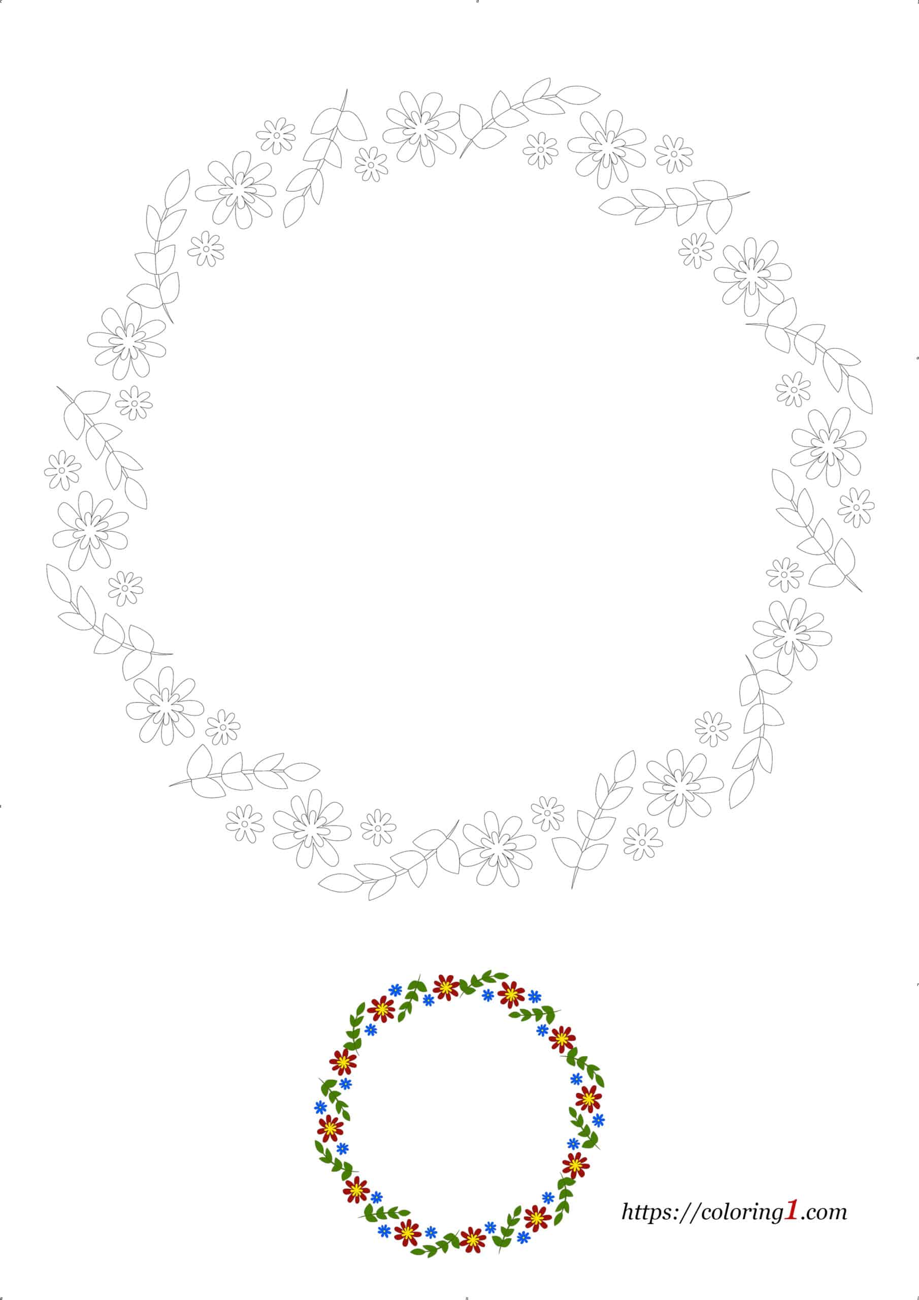 Coloriage Dessin Difficile Bordure de Fleurs