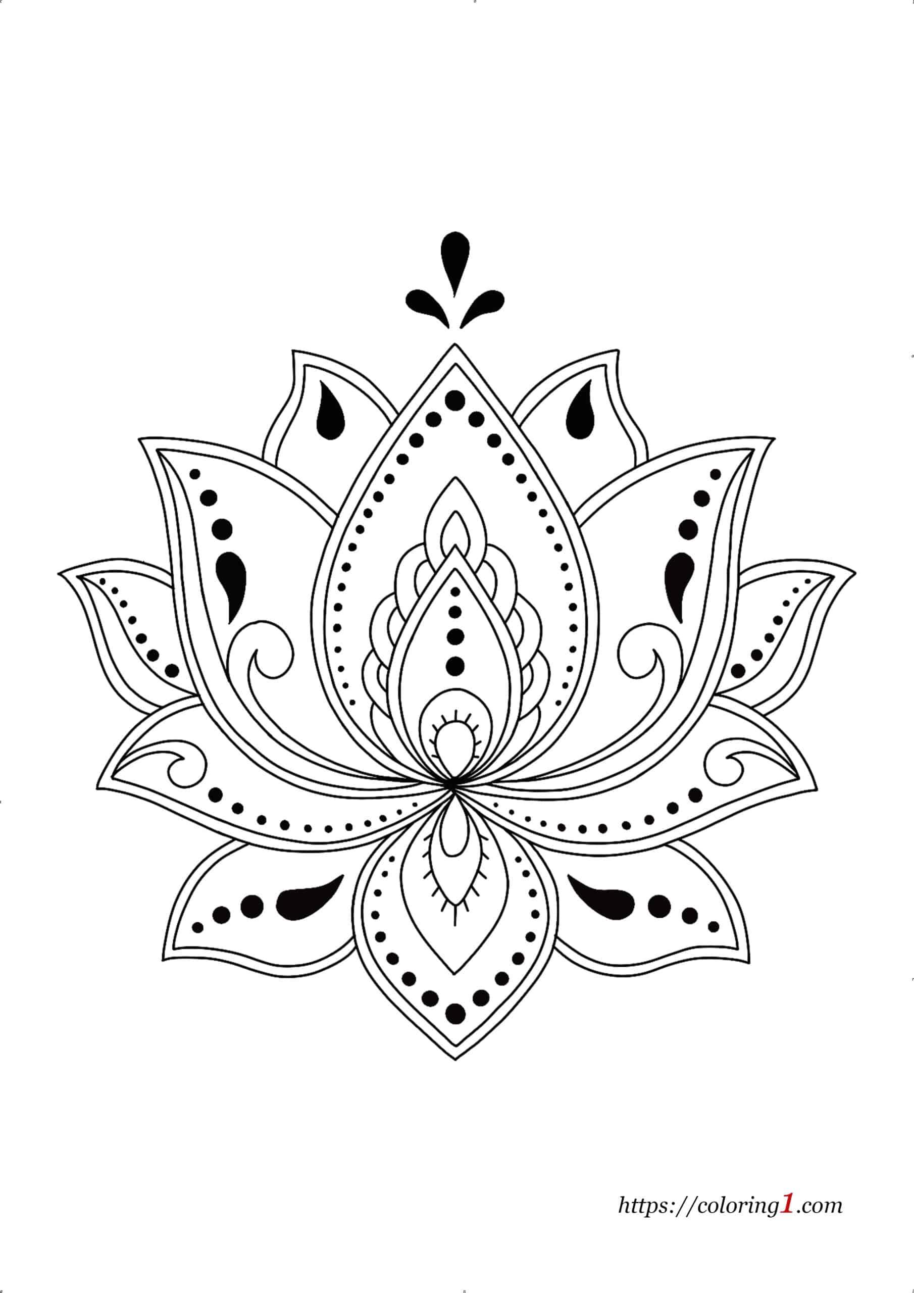 Coloriage Dessin Difficile Mandala Fleur De Lotus