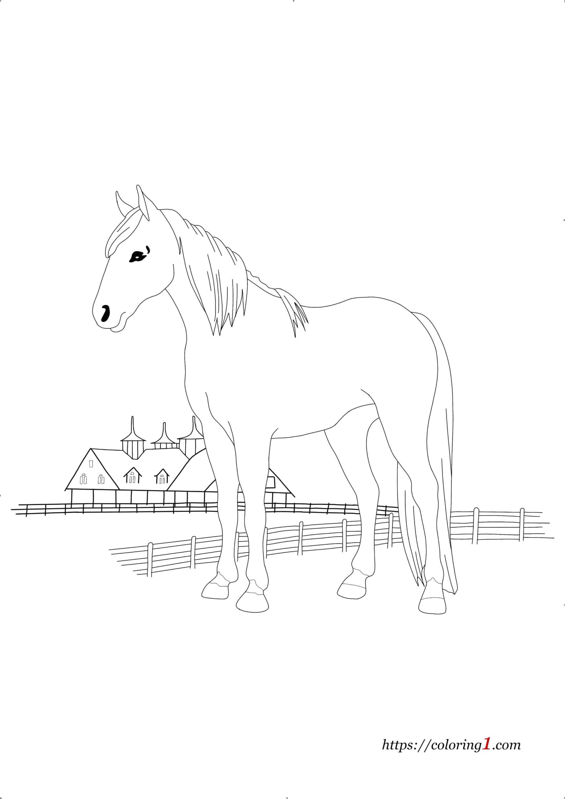 Quarter Horse coloring page